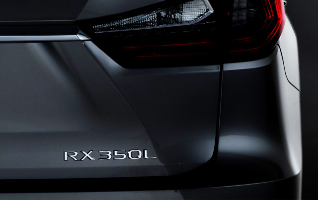 Teaser for 2018 Lexus RX L debuting at 2017 Los Angeles Auto Show