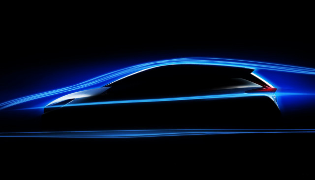 Teaser for 2018 Nissan Leaf debuting on September 6, 2017