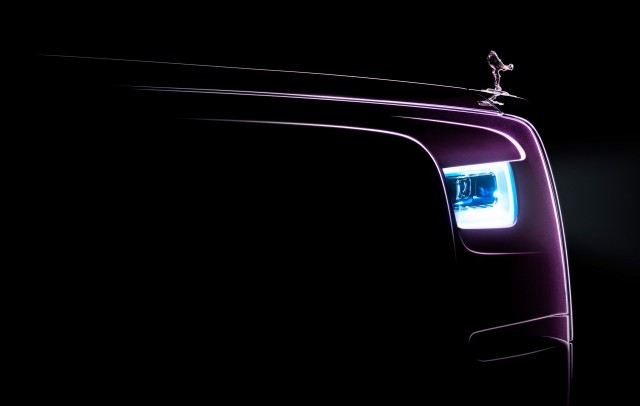 Teaser for 2018 Rolls-Royce Phantom debuting on July 27, 2017