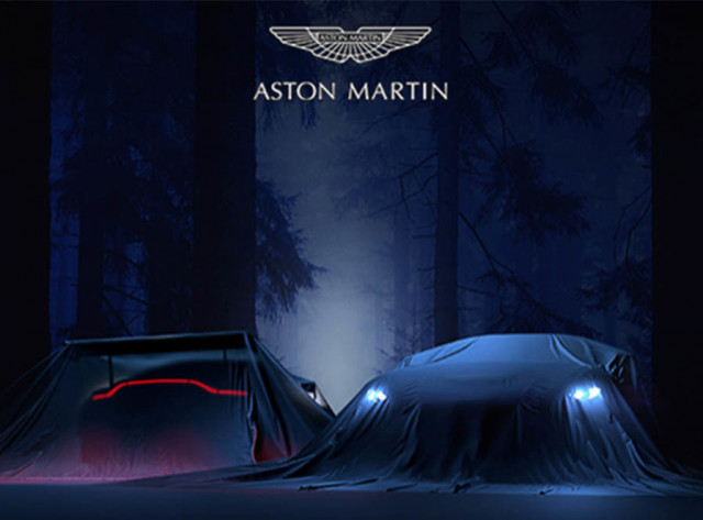 Teaser for 2019 Aston Martin Vantage debuting on November 21, 2017