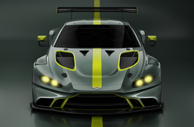 Teaser for 2019 Aston Martin Vantage GT3 race car