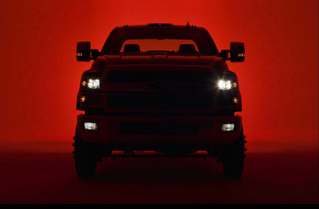 Teaser for 2019 Chevrolet 4500HD/5500HD debuting at 2018 Work Truck Show