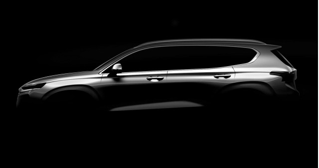 Teaser for 2019 Hyundai Santa Fe debuting at 2018 Geneva auto show
