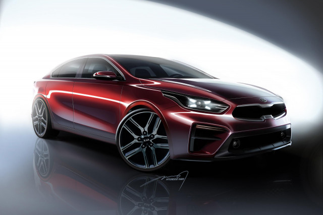 Teaser for 2019 Kia Forte debuting at 2018 North American International Auto Show