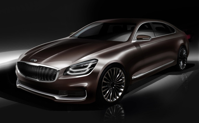 Sketchy teasers leave nothing to imagination for all-new Kia K900