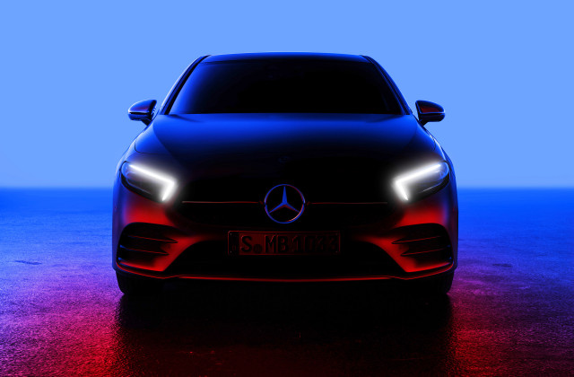 Teaser for 2019 Mercedes-Benz A-Class debuting on February 2, 2018