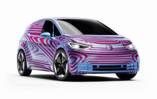 Teaser for 2020 Volkswagen ID 3 debuting at 2019 Frankfurt auto show