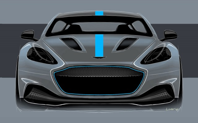 Teaser for Aston Martin RapidE debuting in 2019