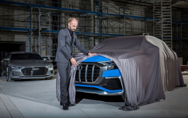 Teaser for Audi Q8 concept debuting at 2017 Detroit auto show