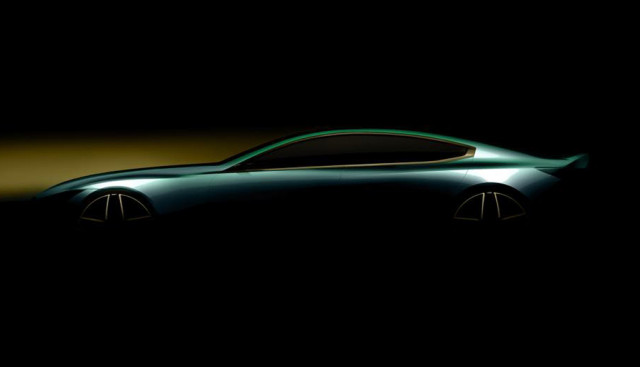 Teaser for BMW 8-Series Gran Coupe concept debuting at 2018 Geneva motor show