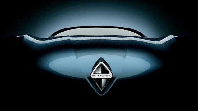 Teaser for Borgward concept car debuting at 2017 Frankfurt auto show