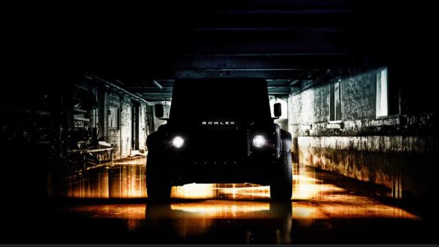 Teaser for Bowler's V-8-powered Land Rover Defender