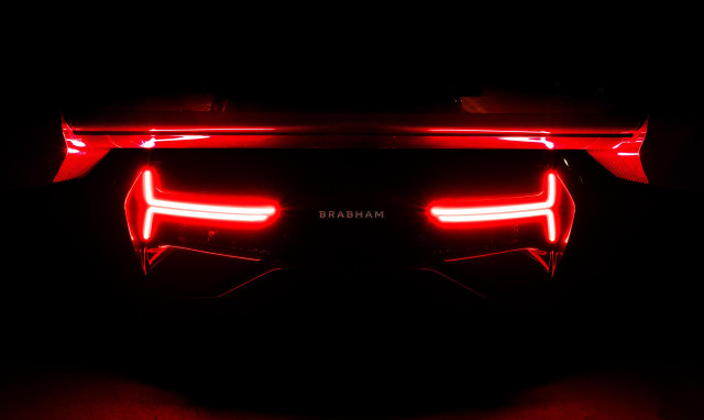 Teaser for Brabham BT62 debuting on May 2, 2018