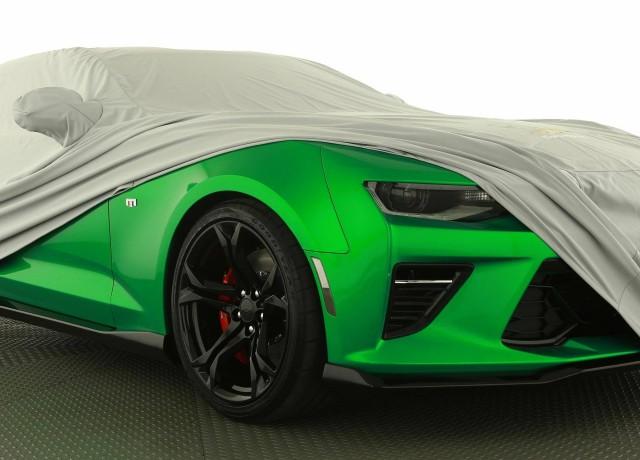 Teaser for Chevrolet Camaro Track concept debuting at 2017 Geneva auto show