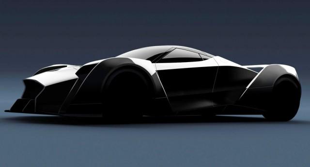 Teaser for Dendrobium supercar debuting at 2017 Geneva auto show