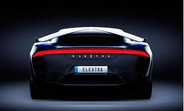 Teaser for Elextra electric supercar