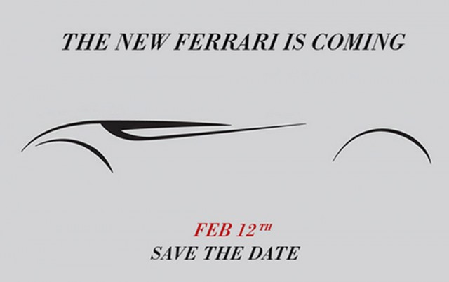 Teaser for Ferrari's California replacement