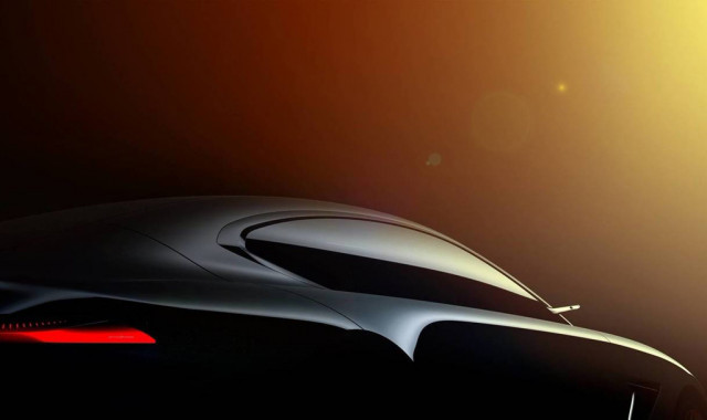Teaser for HK GT concept debuting at 2018 Geneva auto show
