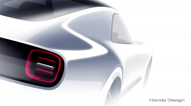 Teaser for Honda Sports EV Concept debuting at 2017 Tokyo Motor Show