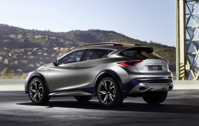 Teaser for Infiniti QX30 concept debuting at 2015 Geneva Motor Show