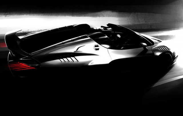 Teaser for Italdesign Zerouno Roadster debuting at 2018 Geneva auto show