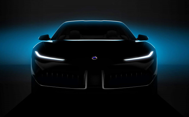 Teaser for Karma Pininfarina concept debuting at 2019 Shanghai auto show