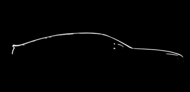 Teaser for Kia GT (Stinger) debuting at 2017 Detroit auto show
