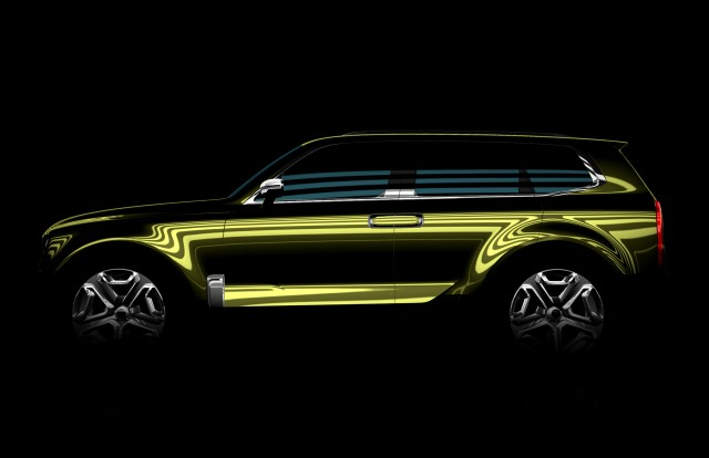 Teaser For Kia Suv Concept Debuting At 2016 Detroit Auto Show