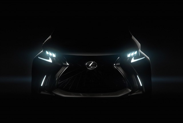 Teaser for Lexus LF-SA concept debuting at 2015 Geneva Motor Show