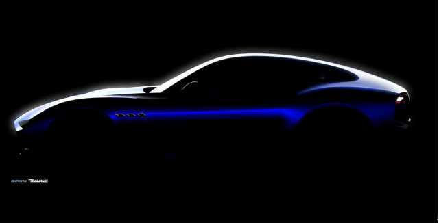 Teaser for Maserati Alfieri sports car
