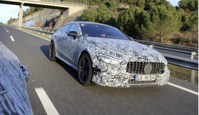 """Teaser for Mercedes-AMG """"GT Coupe"""" debuting at 2018 Geneva auto show"""