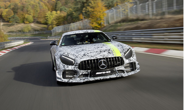 Teaser for Mercedes-AMG GT R Pro debuting at 2018 Los Angeles auto show