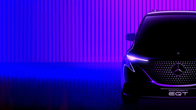 Teaser for Mercedes-Benz Concept EQT debuting on May 10, 2021