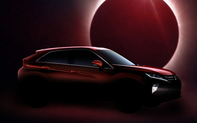 Teaser for Mitsubishi Eclipse Cross debuting at 2017 Geneva auto show