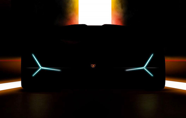 Teaser for new Lamborghini debuting at 2019 Frankfurt auto show