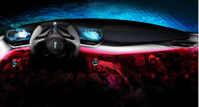 Teaser for Pininfarina PF0 electric hypercar debuting at 2019 Geneva auto show