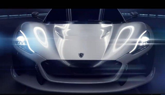 Teaser for Rimac electric supercar debuting at 2018 Geneva auto show
