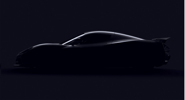 Teaser for Rimac electric supercar debuting at 2018 Geneva motor show