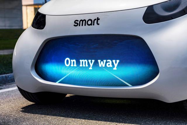 Teaser for Smart concept car debuting at 2017 Frankfurt auto show