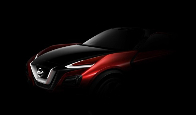 Teaser for sporty Nissan crossover concept debuting at 2015 Frankfurt Auto Show