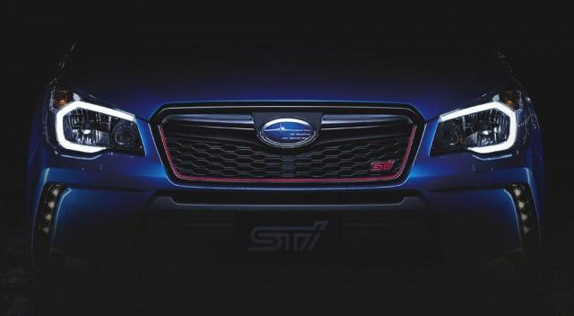 Teaser for STI-enhanced Subaru Forester