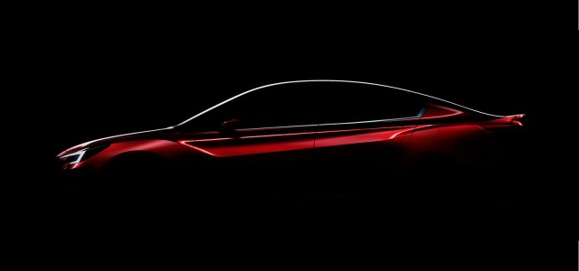 Teaser for Subaru Impreza Sedan concept debuting at 2015 Los Angeles Auto Show