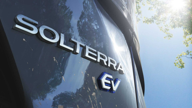 Teaser for Subaru Solterra electric crossover due in mid-2022
