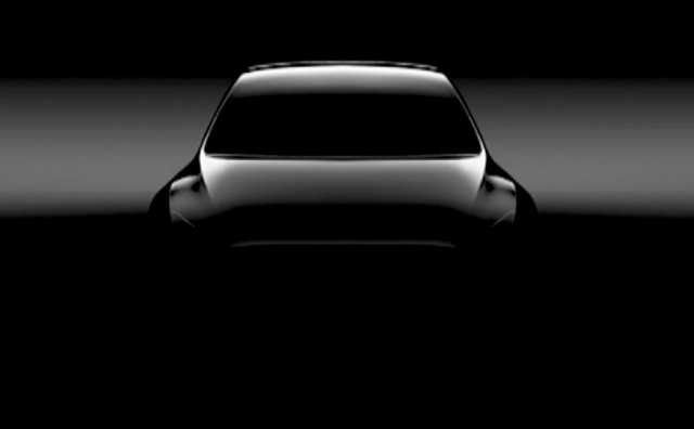 Teaser For Tesla Model Y Electric Suv Due Reveal In 2019