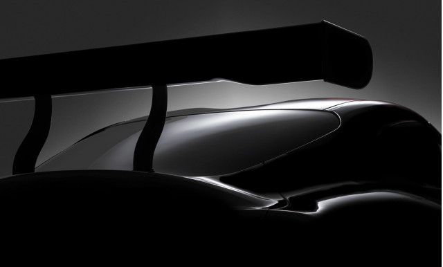 Teaser for Toyota Supra race car concept debuting at 2018 Geneva auto show