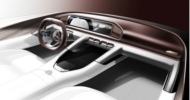 Teaser for Vision Mercedes-Maybach Ultimate Luxury Concept debuting at 2018 Beijing Auto Show