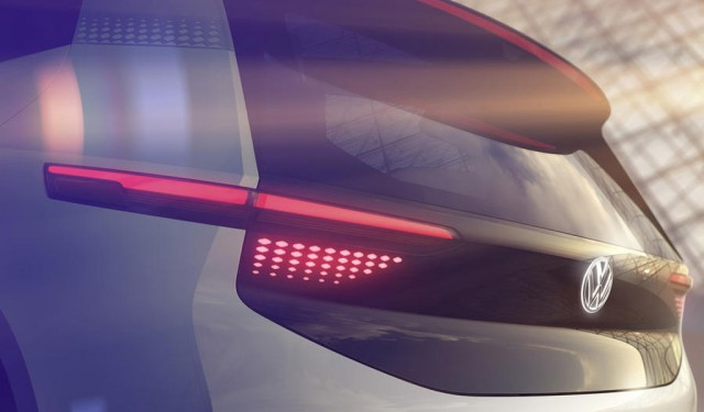 Teaser for Volkswagen electric car concept debuting at 2016 Paris auto show