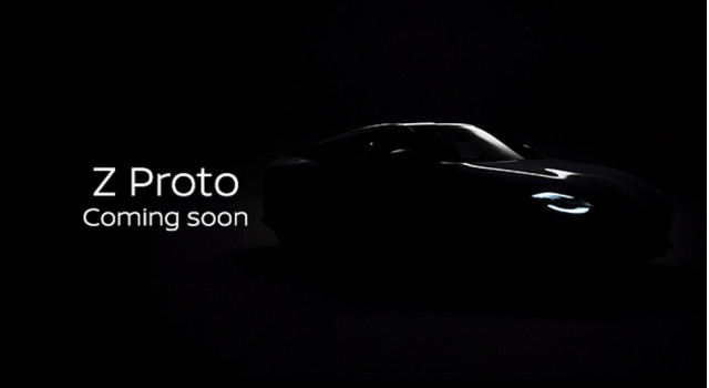 Teaser for Z35 Nissan Z sports car prototype