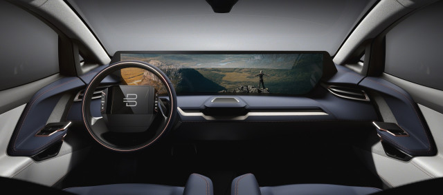 Teaser Image Of Byton Electric Suv Dash Display And Interior To Be Launched At Ces
