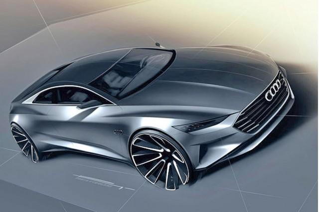 Teaser sketch for Audi Prologue concept (Image via Auto Bild)